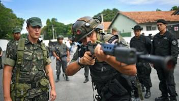Soldados, policías, brasil, seguridad, crimen