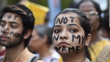 Manifestación contra la violencia machista tras nuevas violaciones en la India.