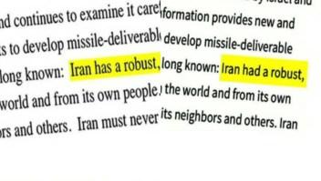 Peligroso error tipográfico de la Casa Blanca sobre Irán