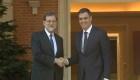 Rajoy evalúa discurso de Torra con líder de la oposición