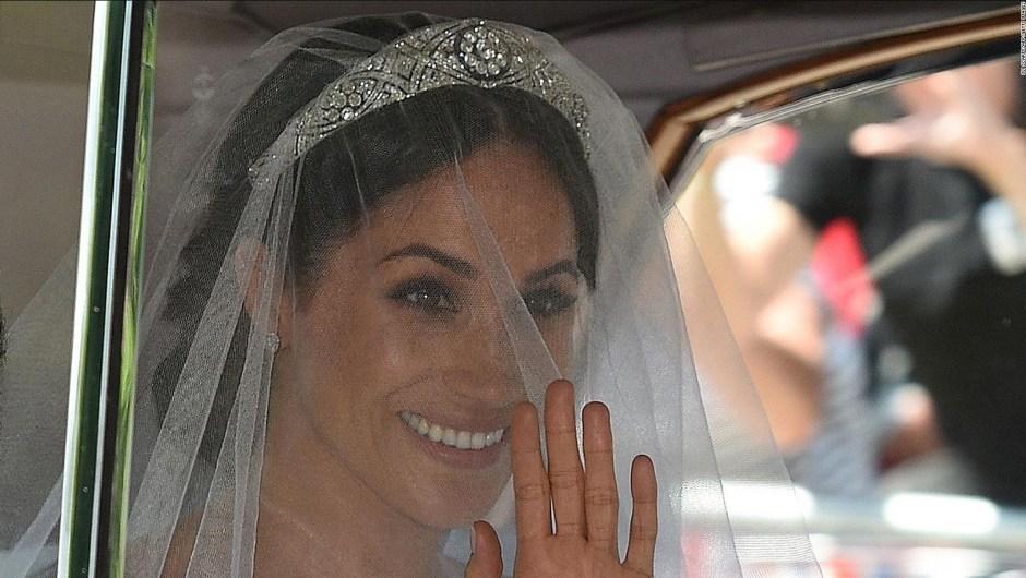 La llegada de Meghan Markle a su boda