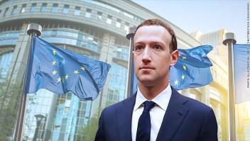 Mark Zuckerberg ante el Parlamento Europeo