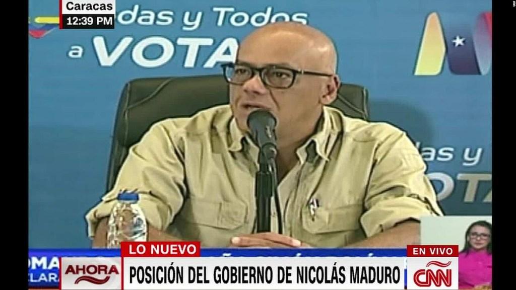 """Jorge Rodríguez: """"Pedimos respeto a la inmensa victoria de Nicolás Maduro"""""""