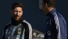 Messi ya entrena con Argentina
