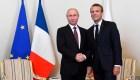 Así fue el encuentro de Putin y Macron