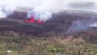 Espectaculares imágenes de brotes de lava en Hawai