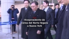#MinutoCNN: Vicepresidente de Corea del Norte llegará a NY