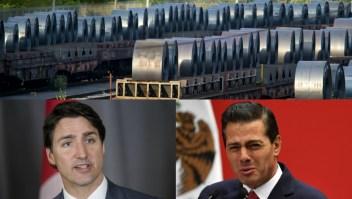 Trudeau y Peña Nieto rechazan los aranceles de Trump