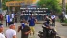 #MinutoCNN: EE.UU. pide investigar muertes por protestas en Nicaragua