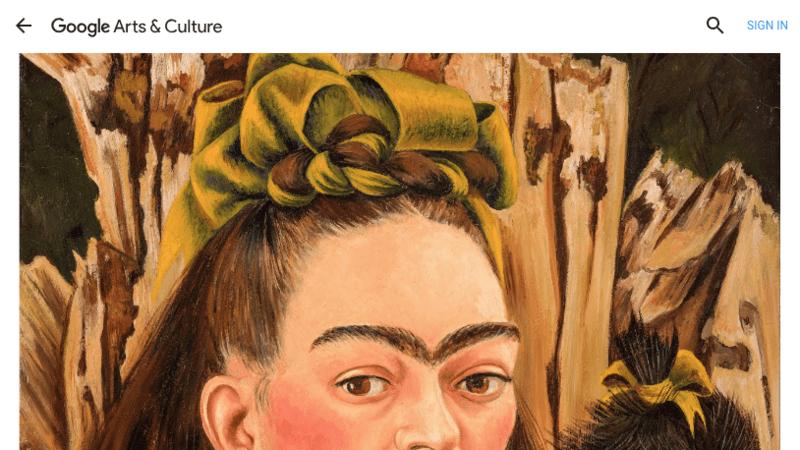 Autorretrato La retrospectiva de Frida Kahlo cuenta con un total de 800 piezas. (Foto: Cortesía Google )