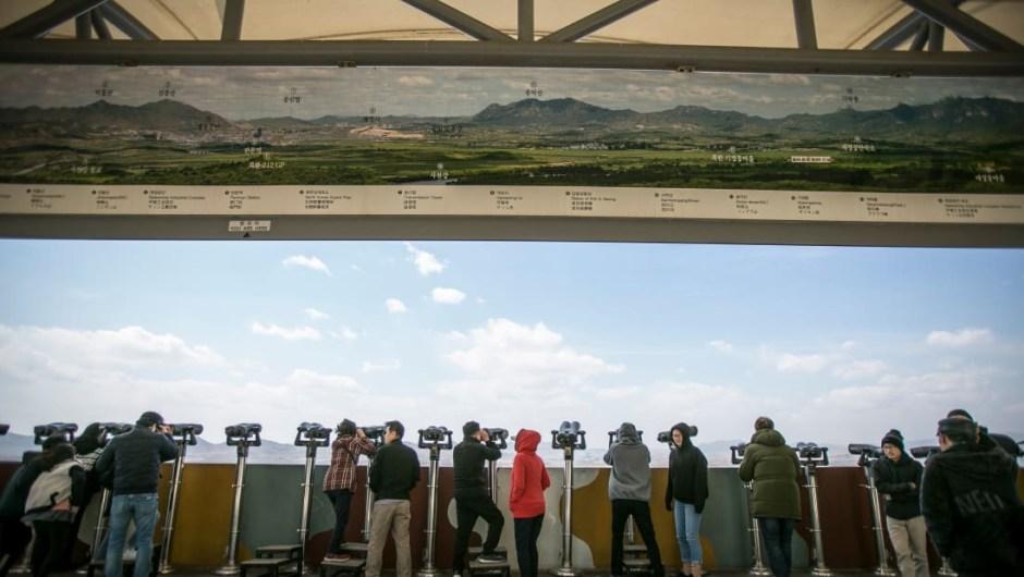 Lado sur: en contraste, el lado surcoreano abarca varios parques, torres de observación y museos.