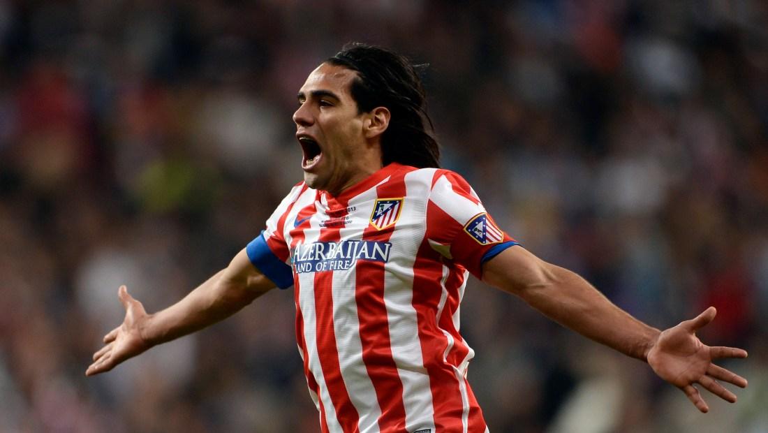 Radamel Falcao, cuando jugaba en el Atlético de Madrid. (Crédito: DANI POZO/AFP/Getty Images)