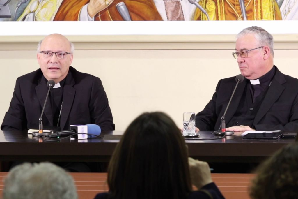 "give a press conference on May 14, 2018 in Vatican. Vatican tries to quell a sex abuse scandal that has rocked the Roman Catholic Church in Chile as Pope Francis admitted ""grave mistakes"" in his handling of the abuse controversy in Chile. (Photo by Luca PRIZIA / AFP) (Photo credit should read LUCA PRIZIA/AFP/Getty Images)"