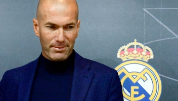Real Madrid's French coach Zinedine Zidane looks on after a press conference to announce his resignation in Madrid on May 31, 2018. - Real Madrid coach Zinedine Zidane said today he was leaving the Spanish giants, just days after winning the Champions League for the third year in a row. (Photo by PIERRE-PHILIPPE MARCOU / AFP) (Photo credit should read PIERRE-PHILIPPE MARCOU/AFP/Getty Images)