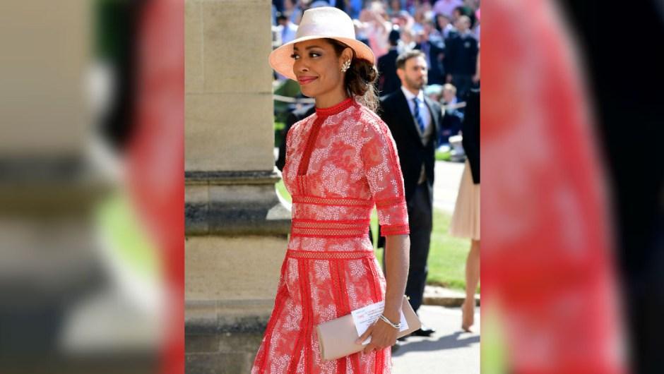 La actriz Gina Torres a su llegada a la boda de Meghan Markle y el príncipe Enrique. (Crédito: IAN WEST/AFP/Getty Images)