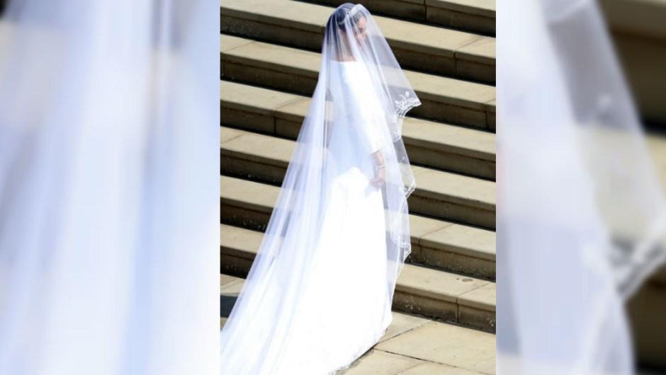 El vestido de Meghan Markle es del diseñador británico Clare Waight Keller para Givenchy