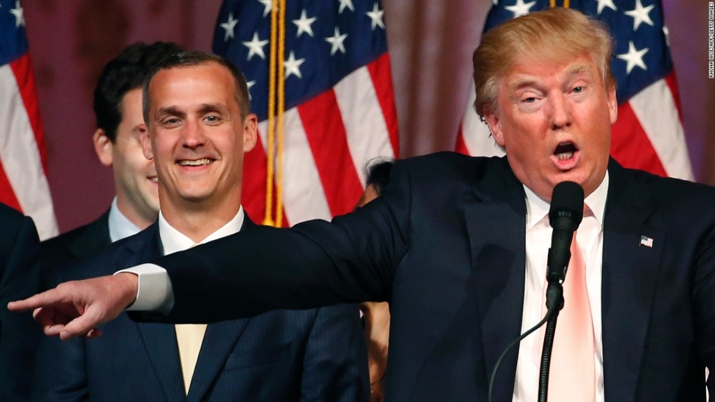 Corey Lewandowski con Donald Trump