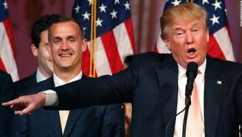 Corey Lewandowski con Donald Trump