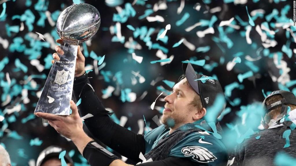 Los Eagles de Filadelfia ganan la Super Bowl en febrero de 2018.