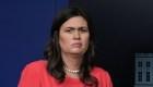 El regaño de Sarah Sanders a los periodistas en la Casa Blanca