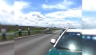 Aterrizaje de emergencia en una autopista de Florida