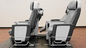 ¿Son estos asientos de clase turista los más cómodos?