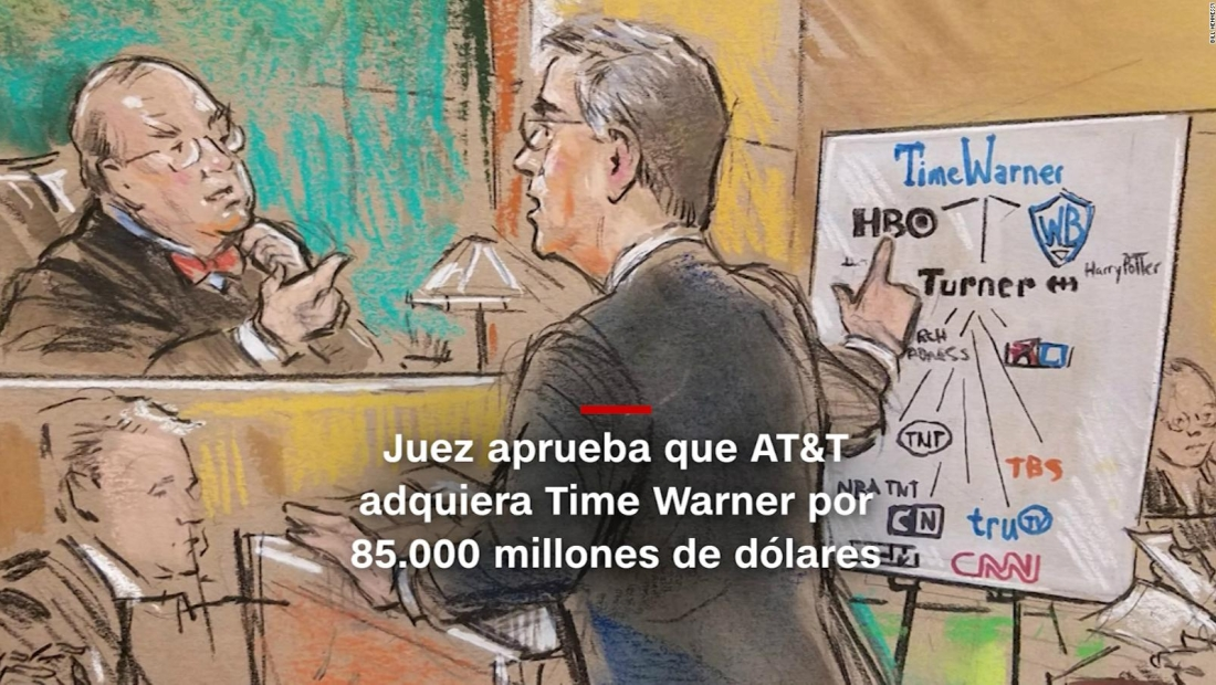 #MinutoCNN: Juez aprueba que AT&T compre Time Warner