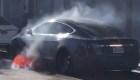 Así se prendió en llamas un Tesla sin razón aparente