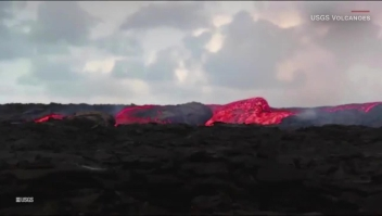 Impresionantes rápidos de lava en el volcán Kilauea