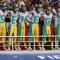 Fanáticos de Senegal durante su victoria 2-1 sobre Polonia el martes. (Crédito: Getty Images)