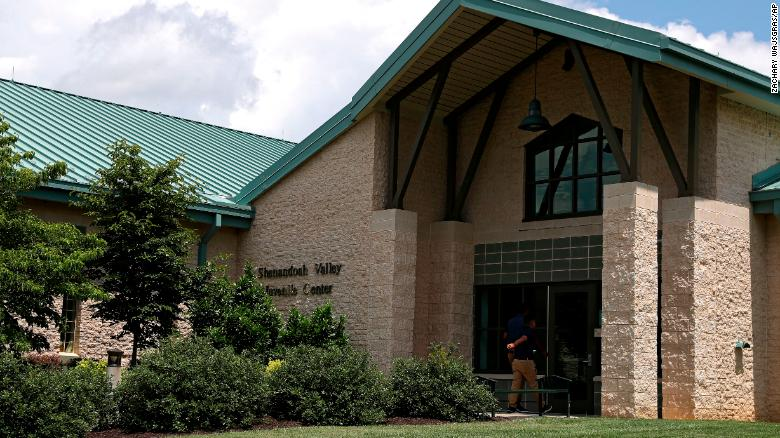 Juvenile Center is shown Wednesday, June 20, 2018 in Staunton, Va.  The U.S. government is using the juvenile detention center in western Virginia to house dozens of young immigrants who crossed the border illegally. (AP Photo/Zachary Wajsgras)