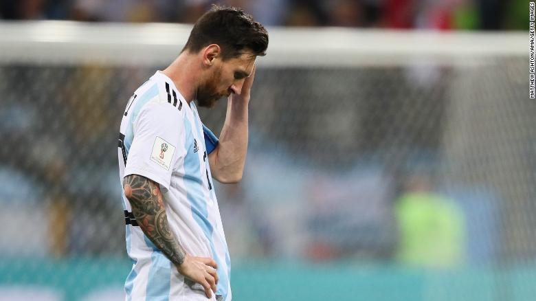 Un Messi extrañamente sometido tuvo menos de 50 toques en todo el juego y solo logró un tiro a puerta.
