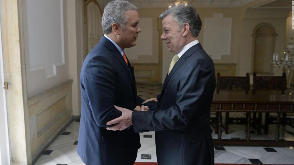 Duque, presidente electo de Colombia, se reúne con Santos