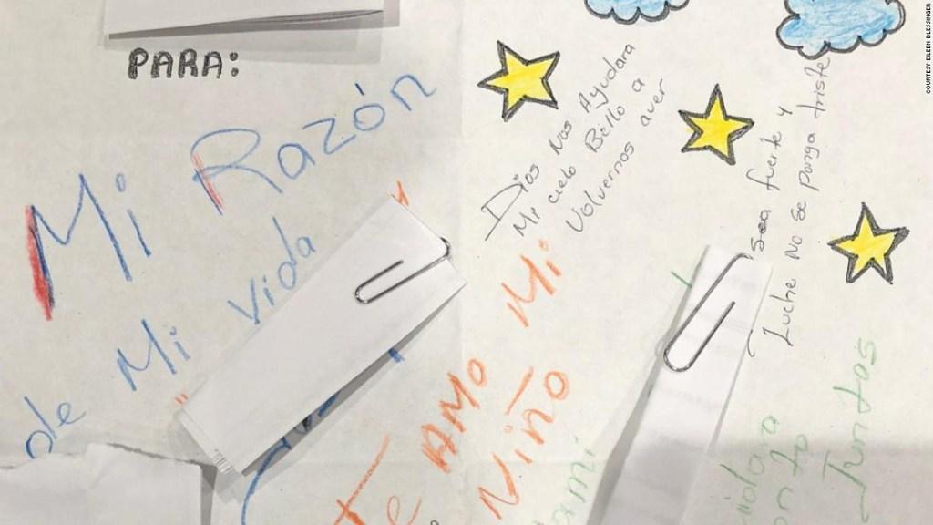 Carta de una madre detenida a su hijo, del que ha sido separada