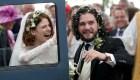 """Se casaron Kit Harington y Rose Leslie, actores de """"Game of Thrones"""""""