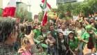 Así festejaron en México la segunda victoria de su selección en el Mundial