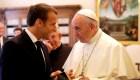 Así fue el encuentro entre Macron y el papa Francisco