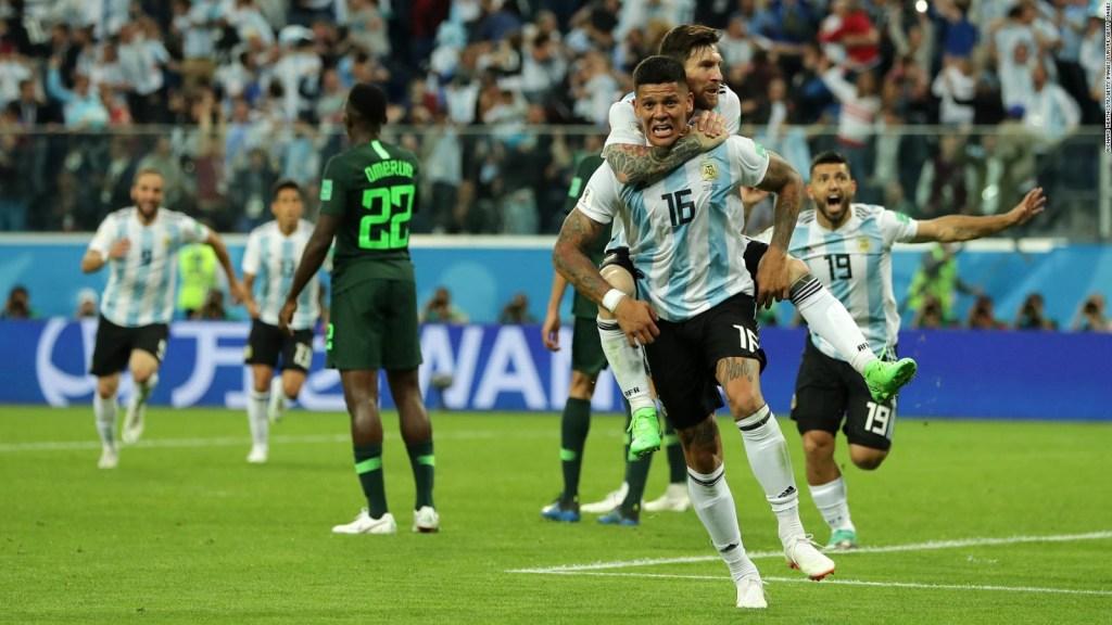 Argentina ganó y está en octavos de final en el Mundial