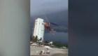 Una mujer queda a la deriva del viento durante 45 minutos