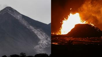 Volcán Fuego de Guatemala y Kilauea de Hawai