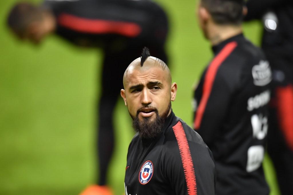 Imagen de archivo de Arturo Vidal durante un entrenamiento con la selección de Chile. (Crédito: JONAS EKSTROMER/AFP/Getty Images)