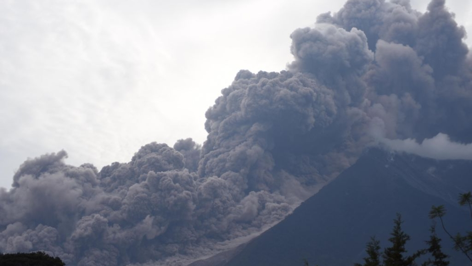 TOPSHOT - The Fuego Volcano in eruption, seen from Alotenango municipality, Sacatepequez department, about 65 km southwest of Guatemala City, on June 3, 2018. (Photo by ORLANDO ESTRADA / AFP) (Photo credit should read ORLANDO ESTRADA/AFP/Getty Images)