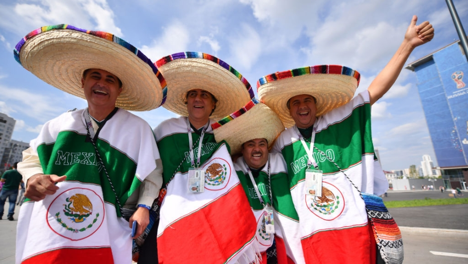YEKATERINBURG, RUSSIA - JUNE 27: Mexico fans enjoy the pre match atmosphere prior to the 2018 FIFA World Cup Russia group F match between Mexico and Sweden at Ekaterinburg Arena on June 27, 2018 in Yekaterinburg, Russia. (Photo by Hector Vivas/Getty Images)