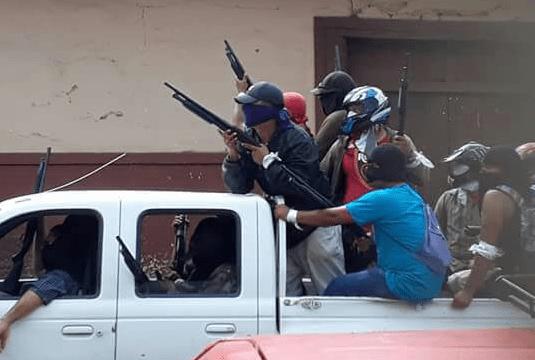 Imagen de ataque de paramilitares en Masaya, Nicaragua.