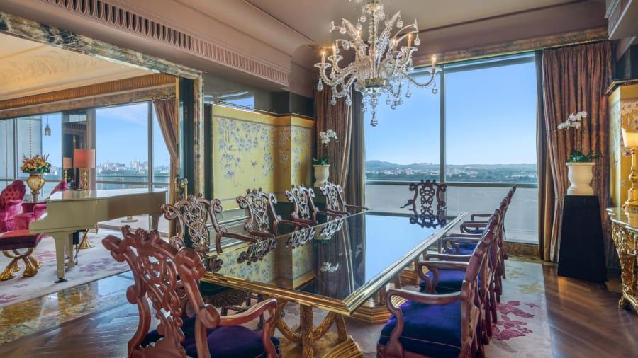 La 'suite' presidencial tiene una zona de almuerzo con 12 asientos.