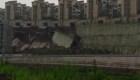 Se desploma calle en China por inundaciones