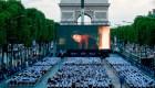 #LaImagenDelDía: cine al aire libre en París