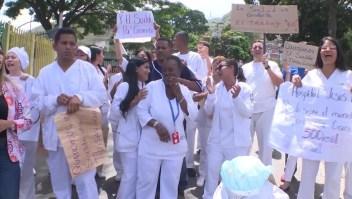 Venezuela: Trabajadores de la salud protestan por mejores salarios