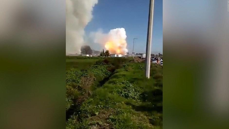 Así fue la explosión en taller de pirotecnia en México