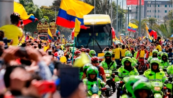 El impresionante recibimiento a la selección Colombia en Bogotá